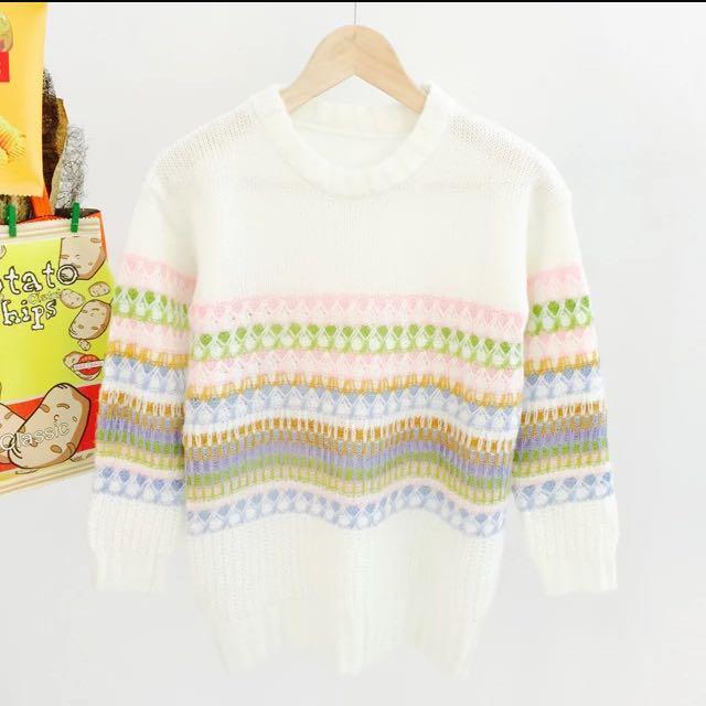 民族風 針織毛衣