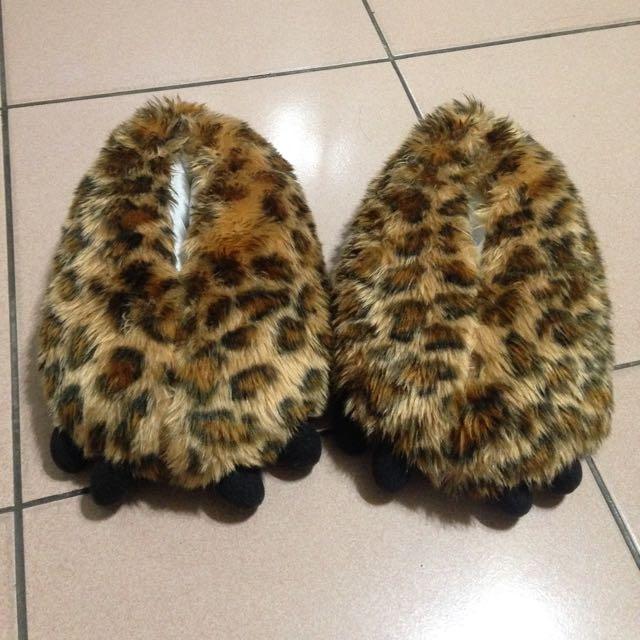 豹紋 造型拖鞋「降價囉~」
