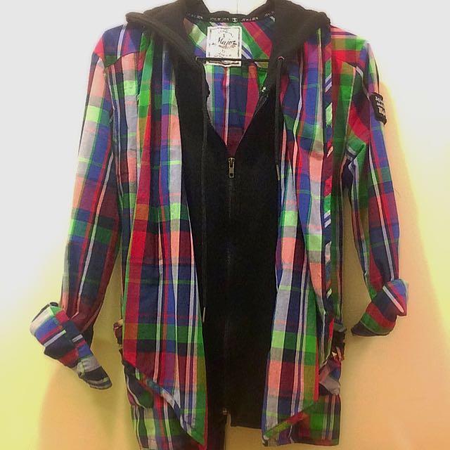 二手格子外套 秋裝 瑪菲斯 Major Made Mavis 格子襯衫
