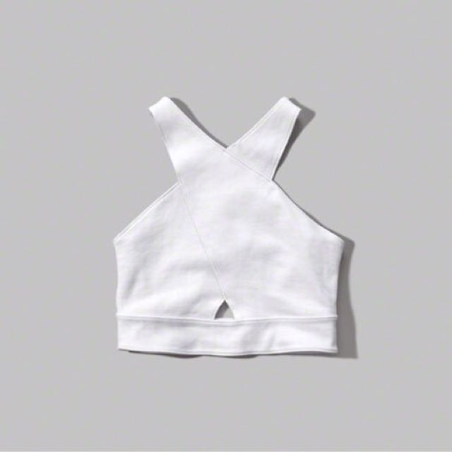 BNWT Abercrombie Cut-out Crop Top size S