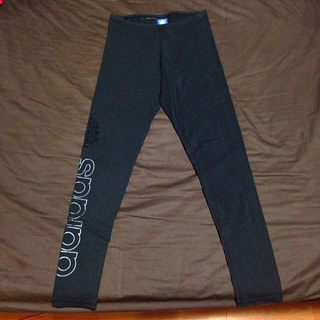 (已訂)adidas_originals 黑色LOGO貼鑽leggings