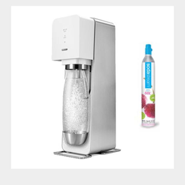 Almost New Soda Stream Source White Starter Kit