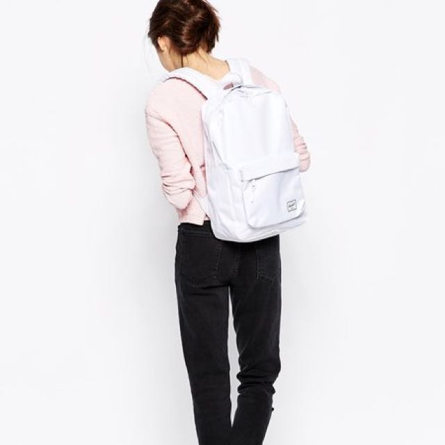 Herschel White Classic Backpack