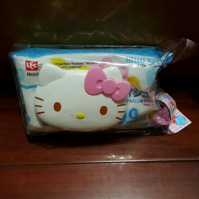 全新日本帶回kitty濕紙巾蓋