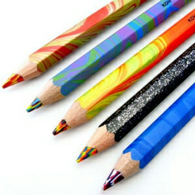 捷克KOH-I-NOOR 魔術七彩色鉛筆/ 油性彩色鉛筆 5支入