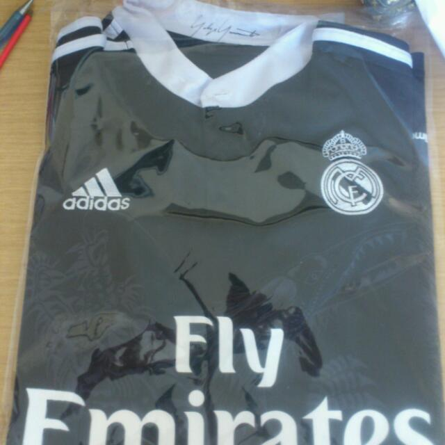 best website 15ce2 5fb65 Reserved* Real Madrid 14/15 Third Kit Black Dragon Jersey ...