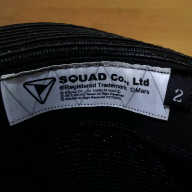 SQUAD黑色紳士編織帽