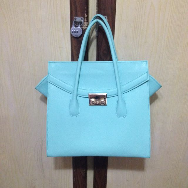 全新Tiffany Blue 鉑金包