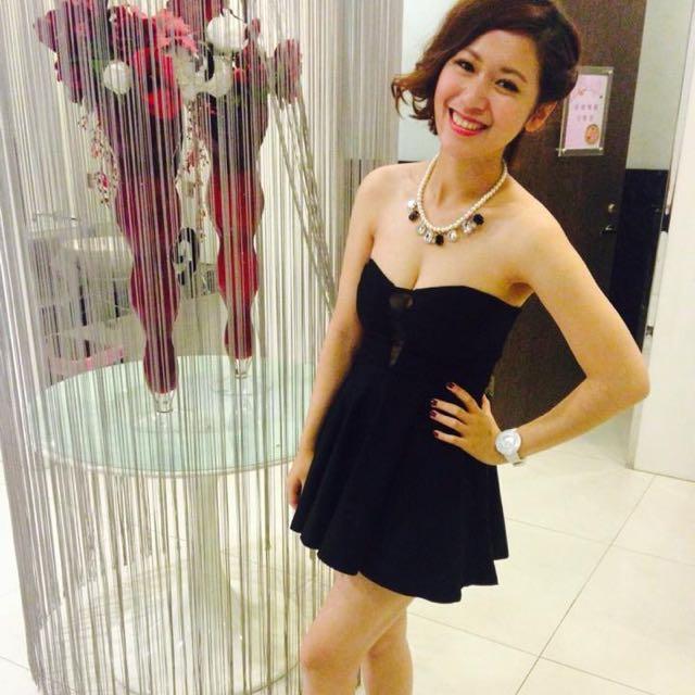 (保留)性感深V黑色小洋裝
