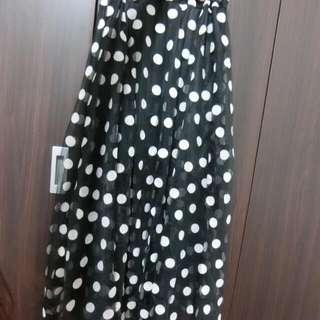 長裙•點點•全新•紡紗•可愛