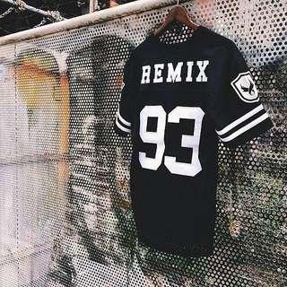 Remix Football Tee 橄欖球衣 黑S 9.5成 Wing Logo 大學T