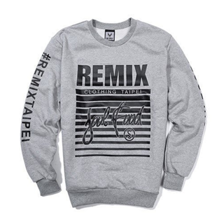 Remix Soulfood Sweatshirt 大學Tee Soul food Wing Logo 灰S全新