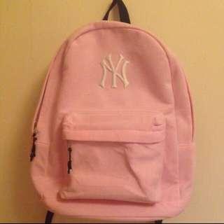 後背包 洋基 粉紅 正版 大容量 女孩 可愛 日本 學生 書包
