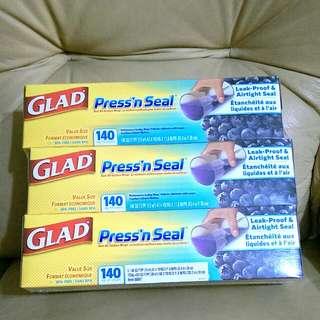 Glad Pressn Seal 強力保鮮膜3入