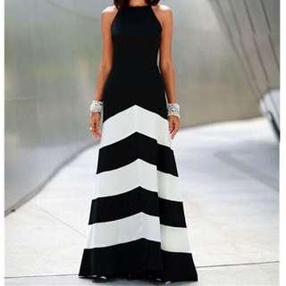 Dual Tone Maxi Dress