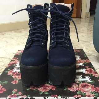 Jeffrey campbell 深藍靴