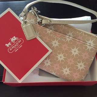 Brand New Authentic Coach wristlet