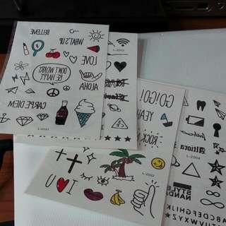 韓 紋身貼紙