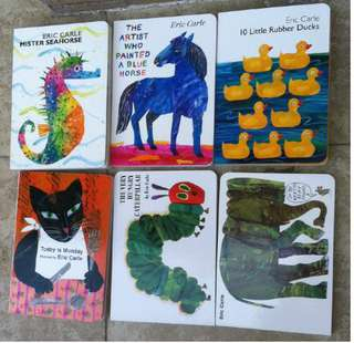 Eric Carle經典繪本6本套裝 兒童英語繪本 全新 寶寶閱讀