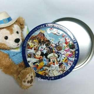 🎁日本東京迪士尼限定 圓餅鐵盒🎈