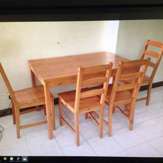 Ikea Dining Table C/w 4 Chairs