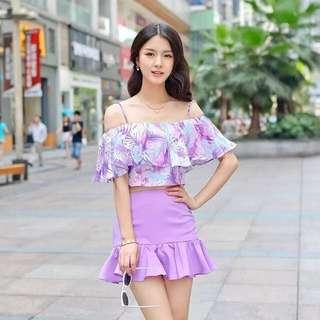 2 - Piece Purple Flora Entire 🎀