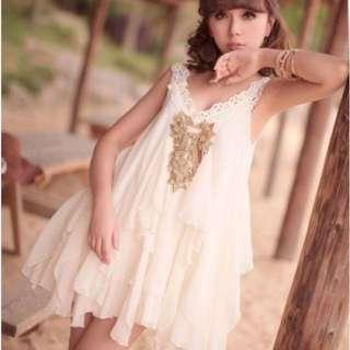 White Multi Layered Dress 🎀