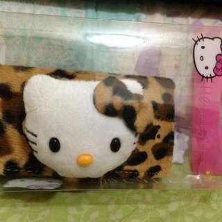 全新便宜賣 IPHONE 5/5s 大Kitty 豹紋 超可愛皮套