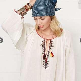 Polo Ralph Lauren 民族風棉麻上衣
