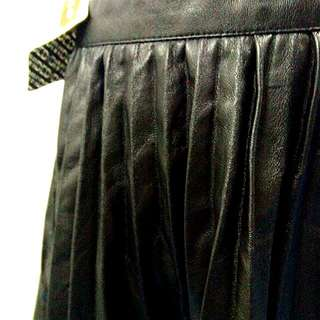H&M Pvc Pleated Skirt