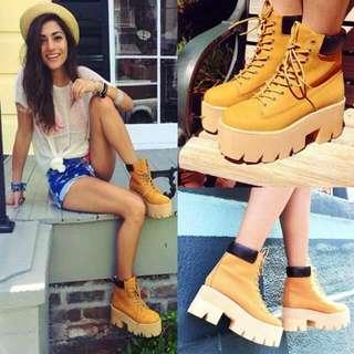 歐美厚底馬丁靴女短靴