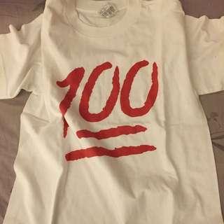 100分 100% 白色 T-shirt White 全新美國公司貨 Sz Medium