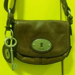 Authentic Fossil Brown Sling Bag
