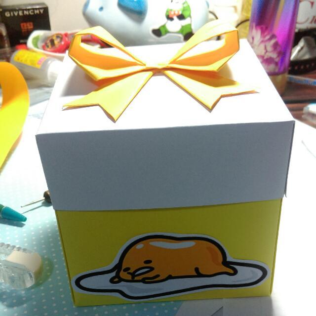#現貨禮物盒 蛋黃哥主題手工禮物盒卡片