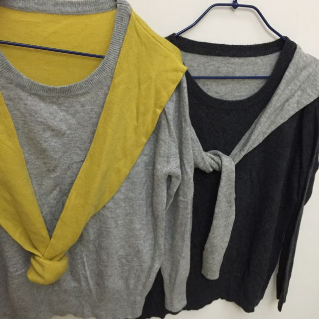 假兩件式針織衣服