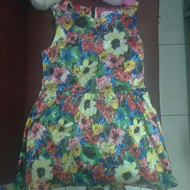 艷夏花花緞布洋裝