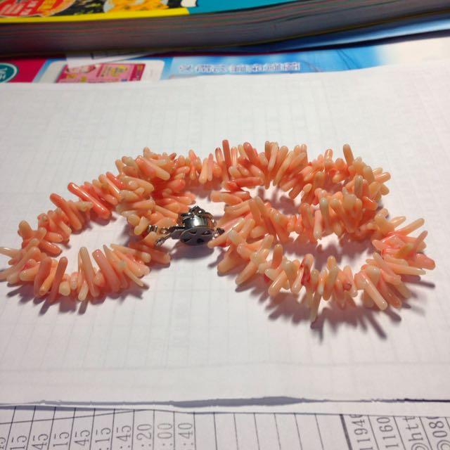 天然珊瑚手串項鍊