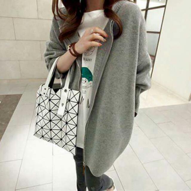 韓版拉鏈針織外套