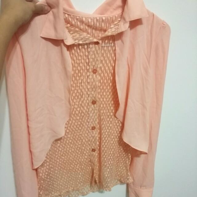 (全新)雪紡襯衫