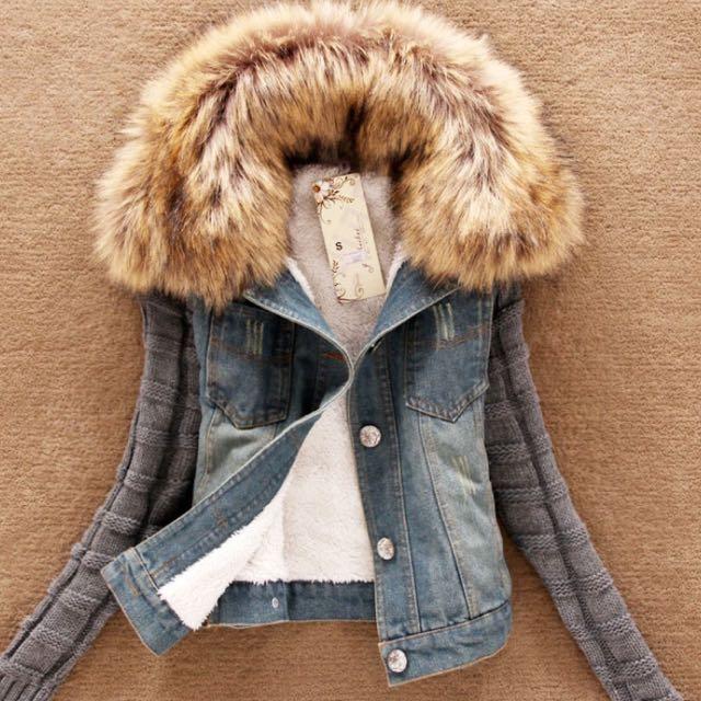 毛毛針織外套