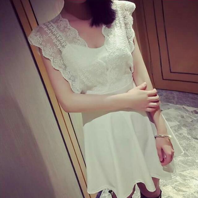 『夏出清賠售』韓版蕾絲連身裙