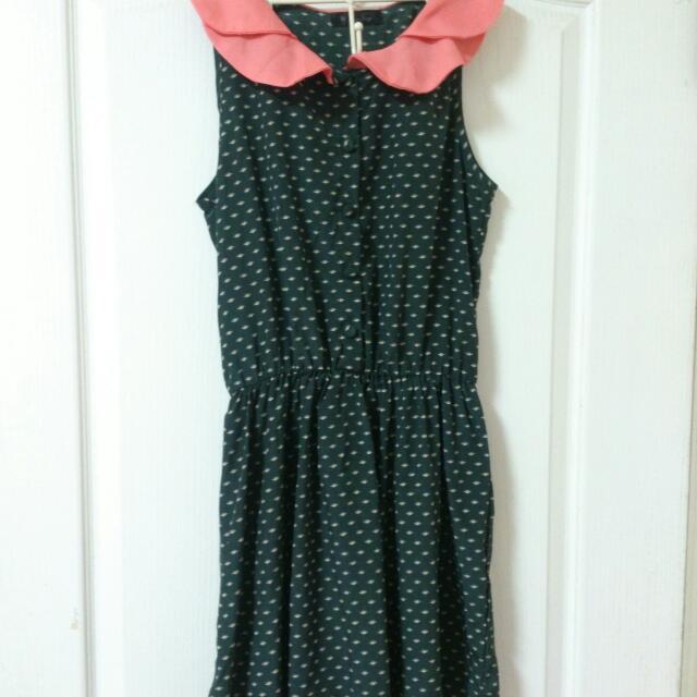 甜美墨綠色洋裝💄