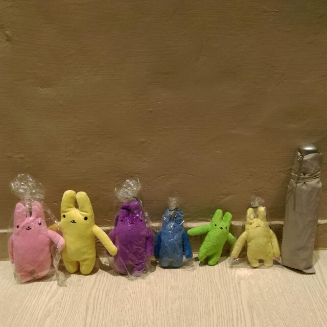 整組售兔子小玩偶