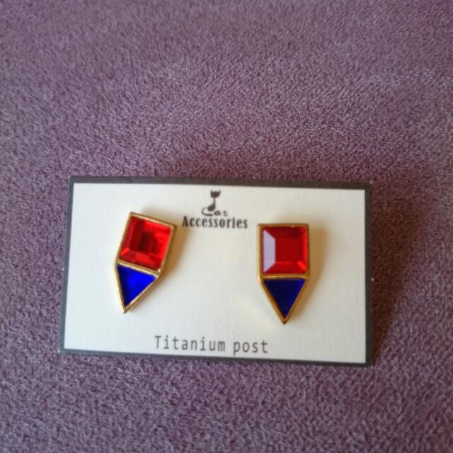 寶石耳環(全新)-欣飾品