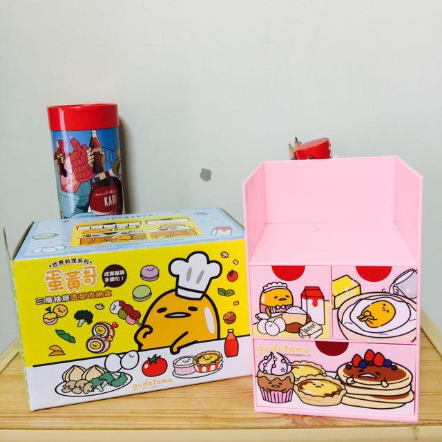 ✨交換✨ 蛋黃哥收納盒 粉色交換黃色