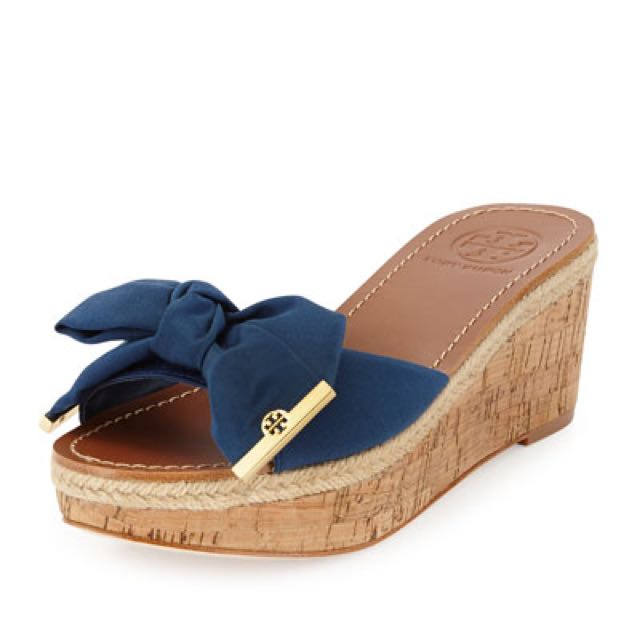 444347f630a 🎀 Authentic Tory Burch Penny Wedge Slide Sandals