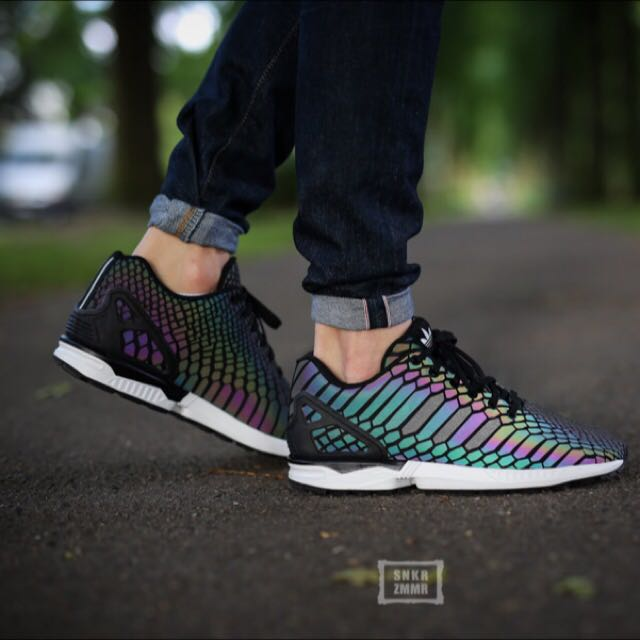 1840ea413 Adidas Zx Flux Xeno (Glow In The Dark)  inspired