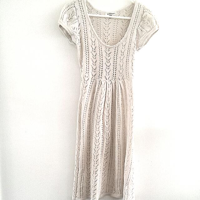 Crocheted/knit White Dress From Valley Girl