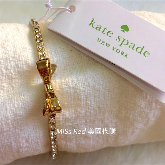 Kate Spade 金色 蝴蝶結 手環