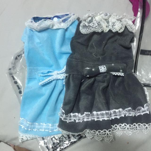 蕾絲洋裝L 黑 藍 各1